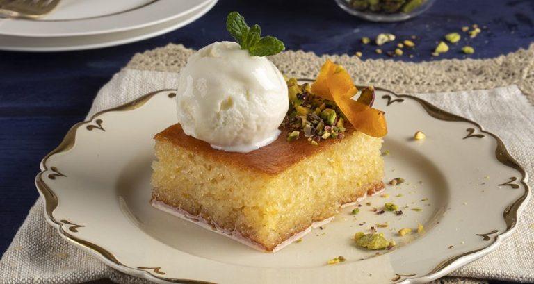 Sweet Semolina Cake – Ravani